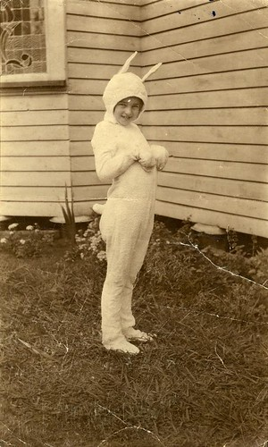 statelibraryofqueensland fancydress children costumes bunny terrytowelling easter historic queensland slq easterbunny toowoomba rabbit costume charmainbernays familyhome house 1922 photograph