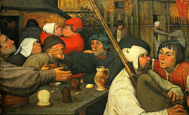 Bruegel the Elder, Peasant Dance, detail 2