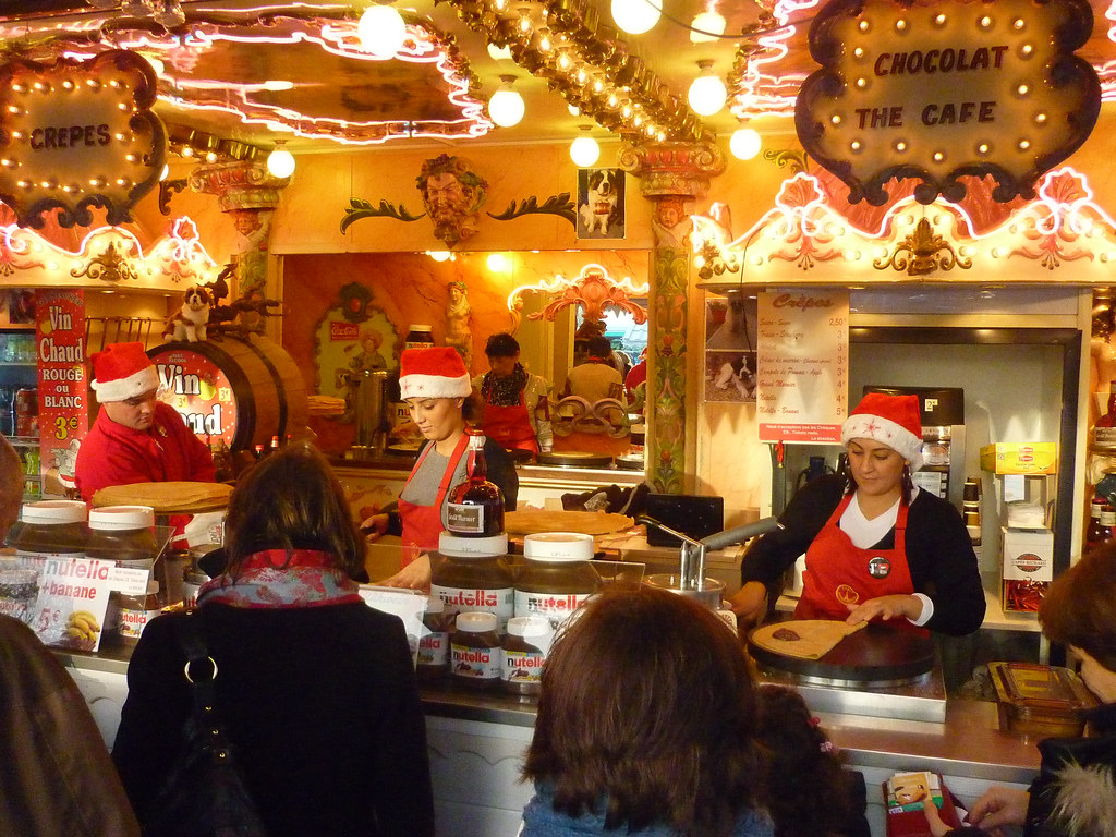 Mulled Wine Christmas Market.Crepes And Mulled Wine At The Christmas Market Evan Bench