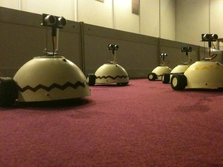 Influencia robots at SIGGRAPH Asia 2011 | by david_mclellan