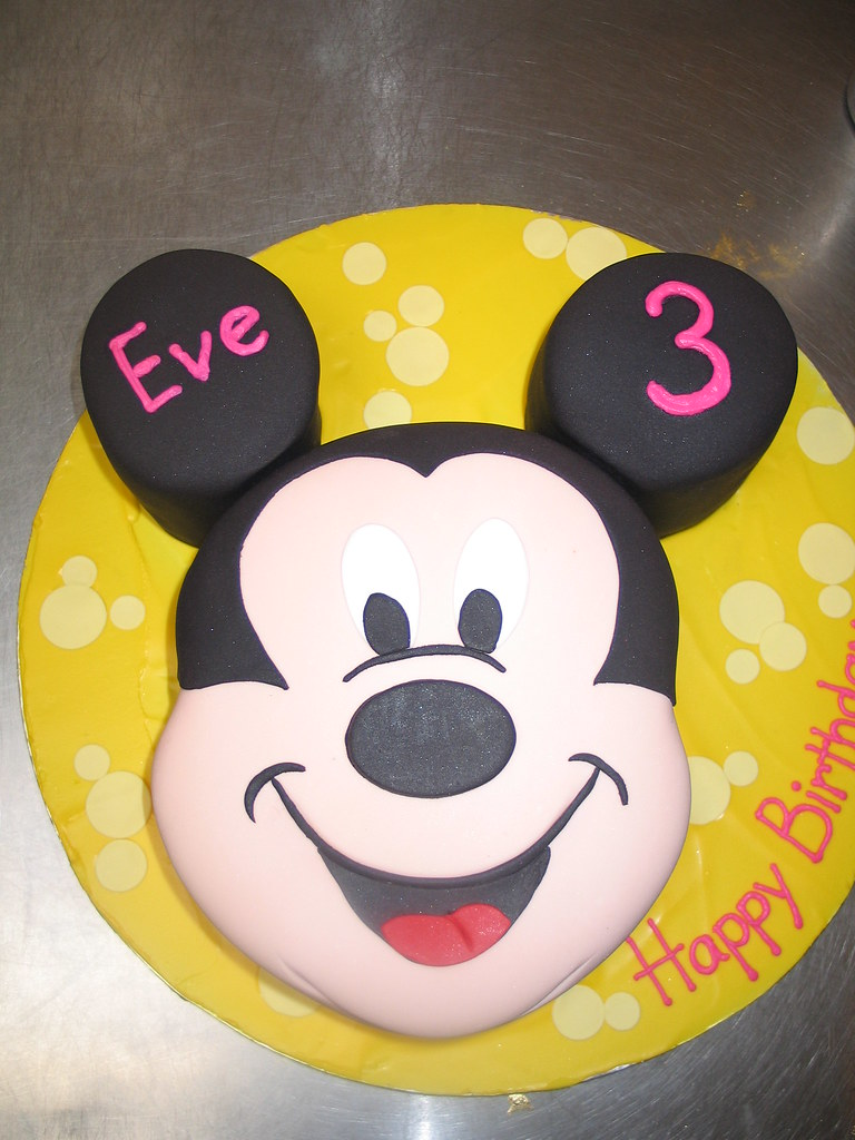 Pleasant Mickey Mouse Birthday Cake Fondant Icing Charlys Bakery Flickr Personalised Birthday Cards Beptaeletsinfo