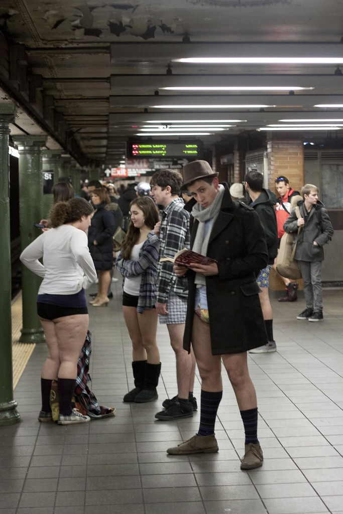 Improv Everywhere No Pants Subway Ride 2012-New York City