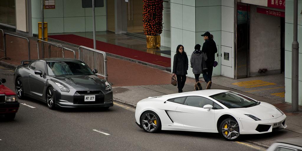 Lamborghini Gallardo Nissan Gtr Causeway Bay Hong Kong Flickr