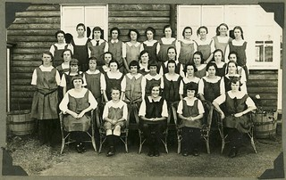 Boarders at St Faith's Anglican Girls' School, Yeppoon, 1925