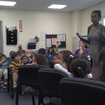 Amanda Ebokosia Speaks to Young Children at Audrey West Headstart Center in Newark, NJ