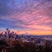 Seattle Kerry Park Winter Sunset by Fresnatic