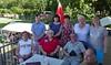 Vor dem Abschied ein Foto mit Besuchern aus Stuttgart und Nürnberg
