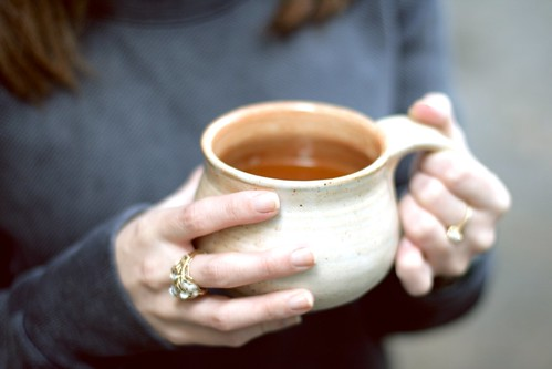 hot apple cider with spiced rum | by amlamster