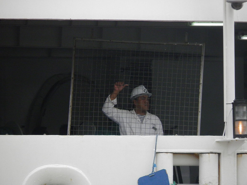 Ouvriers au travail - Seven Seas Voyager - Bordeaux - P8220111