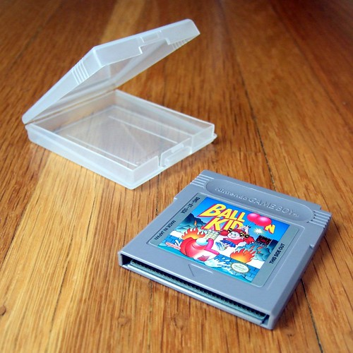 Balloon Kid cartridge and case (GameBoy)