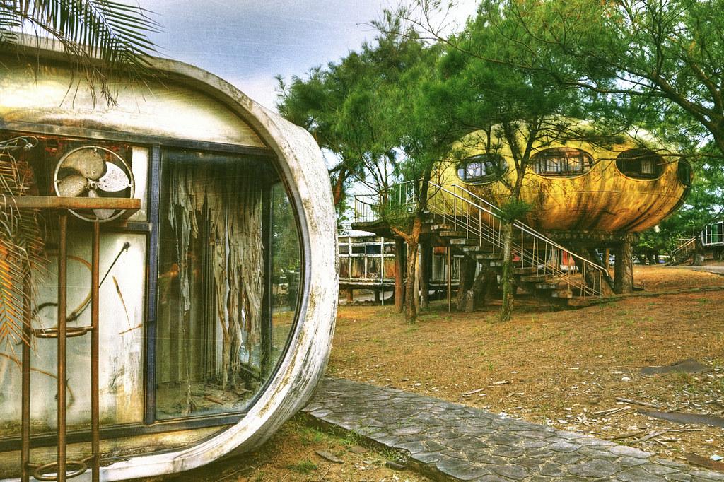 abandoned Futuro House resort in Taiwan