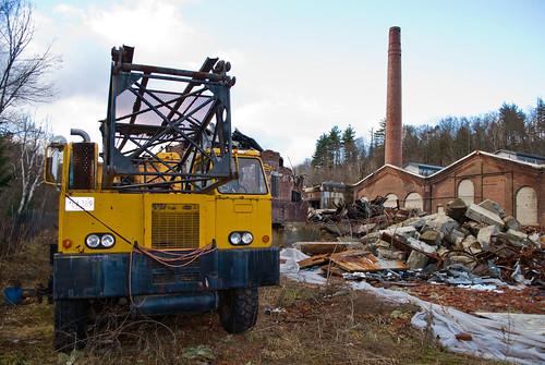 dog brick mill abandoned yellow ma fire rust factory crane furniture decay sable heels germanshepherd ph hazardous demolished womensshoes gsd erving usherpapermill