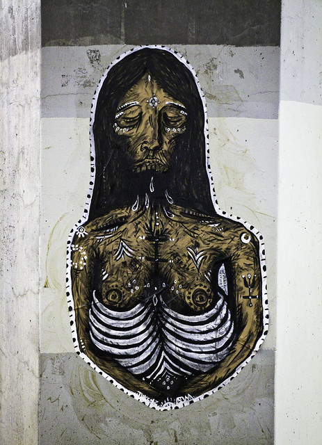 Woman With Exposed Ribs