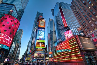 Times Square, Approaching Blue Hour - New York, New York | by atmtx