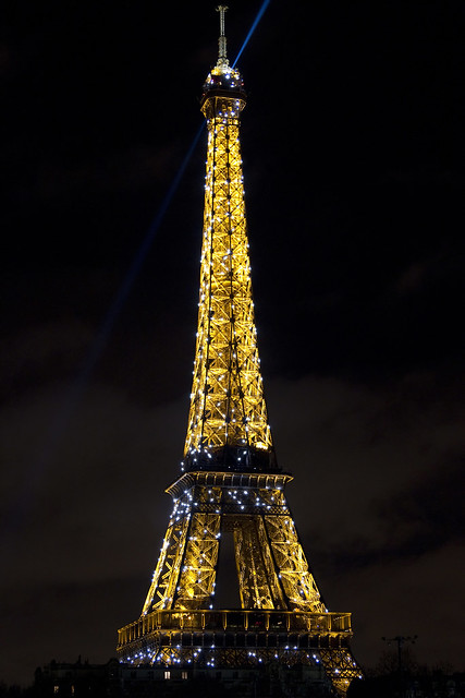 Eiffel Tower at midnight 2011/2012