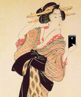 Young Beauty With iPhone, after Kikugawa Eizan | by Mike Licht, NotionsCapital.com