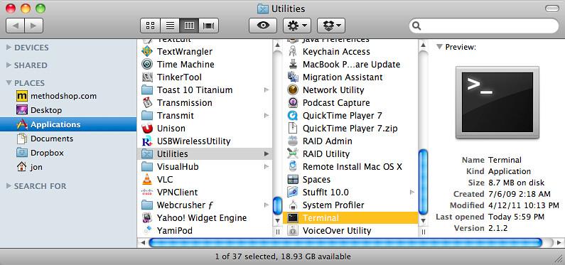 Mac OS X Terminal App | Trust us  We really like the ability