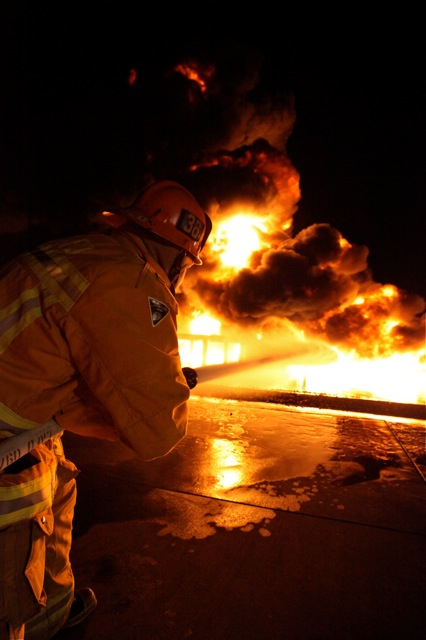 LAFD Live Fire Training At LAX