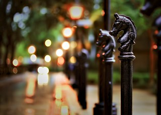 Port Orleans Hitching Posts at Dusk | by Express Monorail