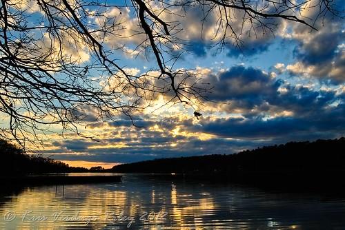sunset lake nature water clouds landscape nc nikon northcarolina highrocklake d3000 nikond3000