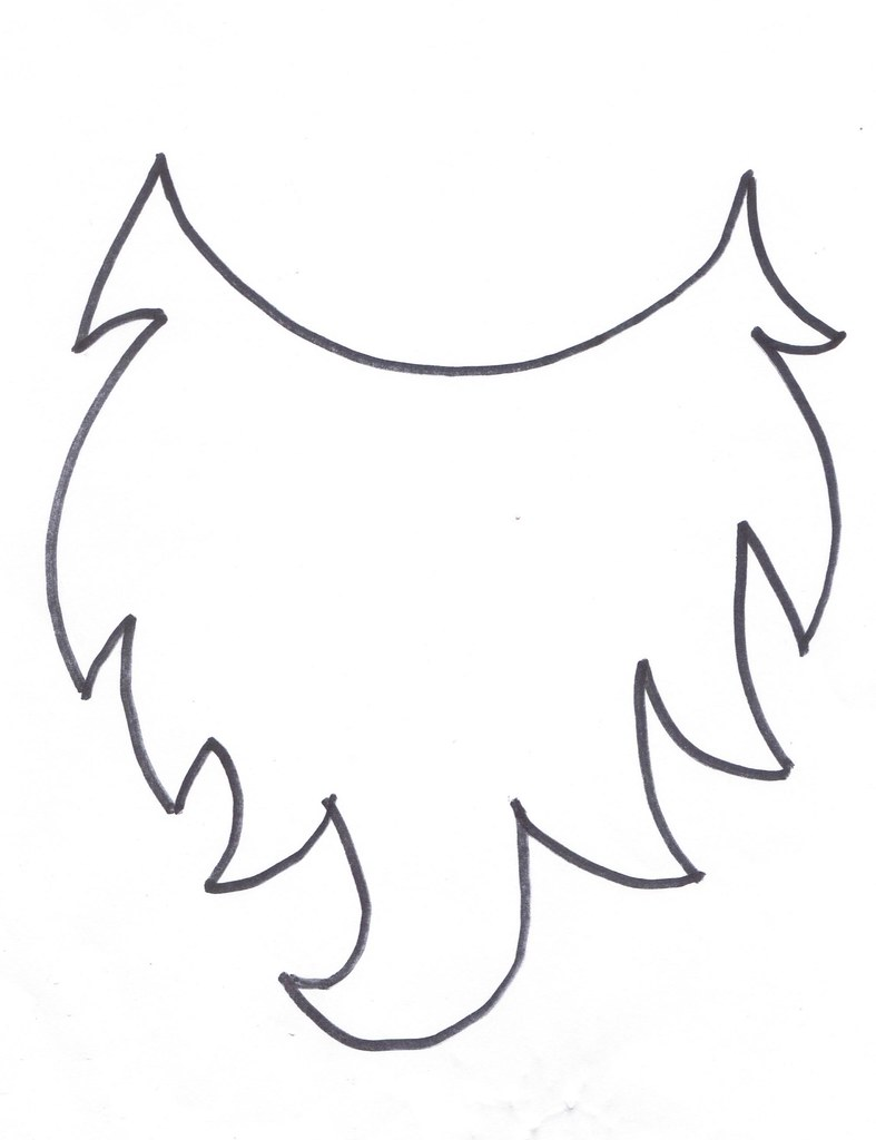 graphic regarding Printable Beard titled Beard printable Santa, elf or gnome beard SmittenLife