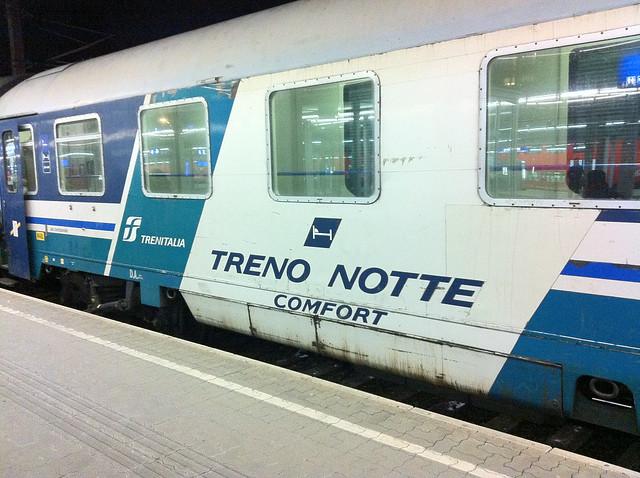 Night Train Vienna to Brescia Italy 2012 - 03