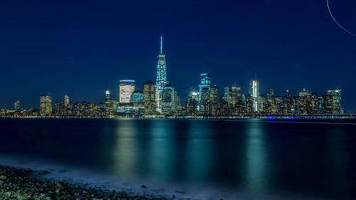 nyc newyorkcity longexposure travel blue water architecture skyscraper canon buildings jerseycity downtown cityscape manhattan skylines hudson worldfinancialcenter canonef24105mmf4lisusm manhattannight canoneos5dmarkiii hameeds