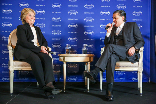 Former U.S. Secretary of State sits down for a discussion with Haim Saban, chair of The Saban Forum, at the 2015 Saban Forum | by BrookingsInst