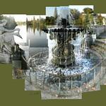 Fountain - Hyde Park #nofilter #hydepark #thelongwater #statue #water #sculpture #ceriphotomontage #cerisinfield #autumn #autumnleaves #morning #london #londonlandmarks