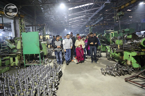Her Holiness visit at devotees factory at Ruderpur