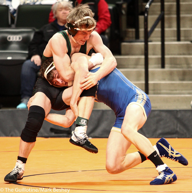 132A - Semifinal - Tanner Reetz (Frazee) 41-1 won in sudden victory - 1 over Brendan Reiss (Minneota) 38-6 (SV-1 6-4)