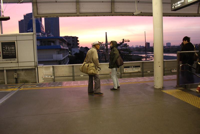 多摩川からの日の出