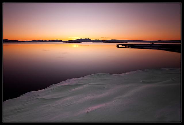 Sunset Þingvallavatn
