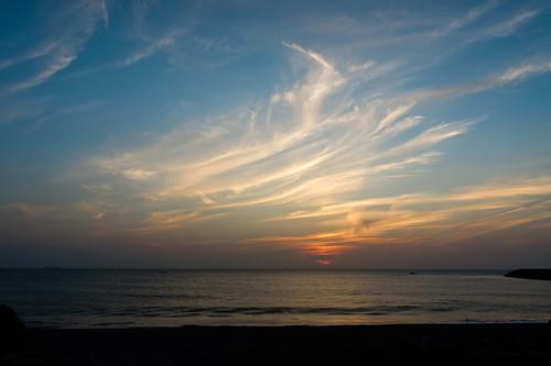 sunset sky sunrise 1855 四草大橋 nex3