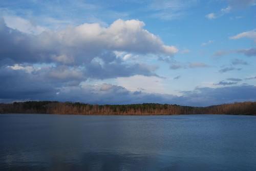 lake clouds georgia bluesky pikecounty