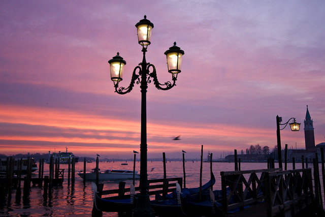 Lamps at Sunrise