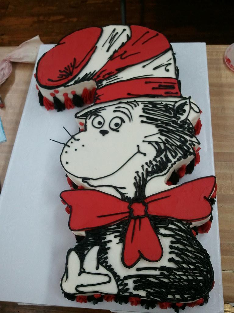 Cool Cat In The Hat Birthday Cake Artisan Kitchen Flickr Personalised Birthday Cards Veneteletsinfo