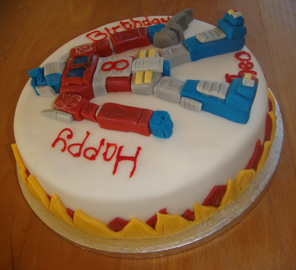 Wondrous Transformer Birthday Cake For More Information Visit Flickr Funny Birthday Cards Online Elaedamsfinfo