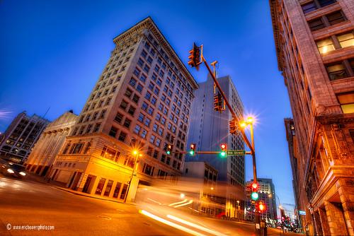 street city sunset urban building twilight downtown kansascity missouri busmotion