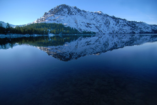 Mt Tallac Mirrored on Fallen Leaf Lake   by Tahoe South