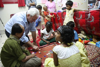 Stephen O'Brien visits survivors of acid attacks in Bangladesh