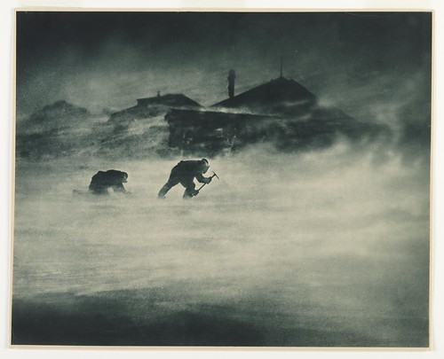 Blizzard at Cape Denison ~ Cape Denison, Antarctica, c. 1912. Frank Hurley. carbon print | by State Library of New South Wales collection