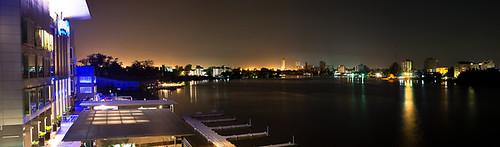 africa longexposure panorama west lagos nigeria eko victoriaisland anchoragehotel radissonblu lasgidi