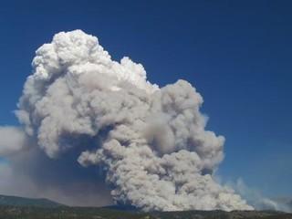 Pacheco Fire - 40000 Foot Echotop Smoke Column on 6/25