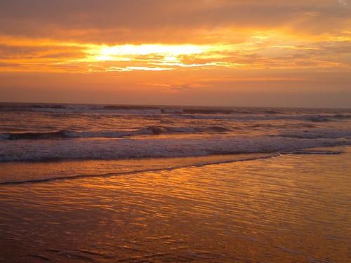 ocean sunset sun bangladesh coxsbazaar