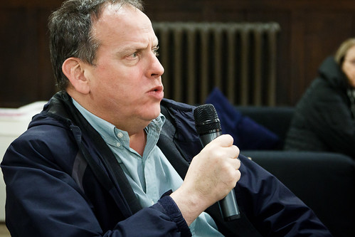 David Millward demanding answers at Thames Water public meeting - 12 January 2012
