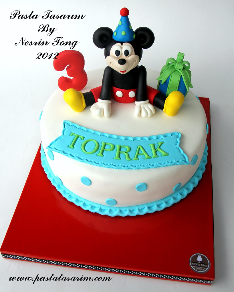 Remarkable Mickey Mouse Birthday Cake Pastatasarim Com Cake By Nesrin Personalised Birthday Cards Bromeletsinfo