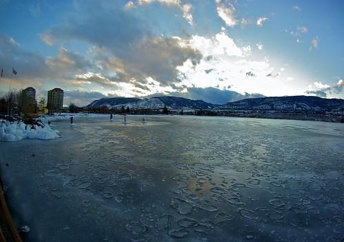 winter sunset cloud lake snow canada ice reflections landscape pentax snowy britishcolumbia okanagan fisheye lakeshore icy penticton lakeokanagan k10d nigeldawson smcpentaxda1017mmf3545fisheyeedif jasbond007 copyrightnigeldawson2012
