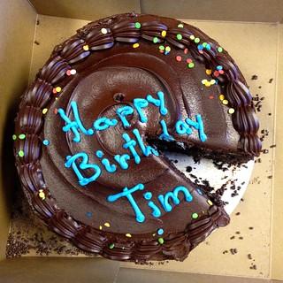 Happy Birthday Tim Chocolate Cake