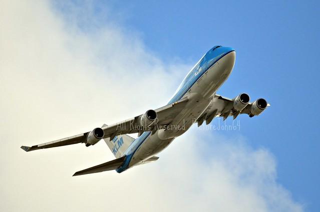 KL644 KLM Boeing 747 (PH-BFK) at FL24 from New York JFK to Schiphol Amsterdam